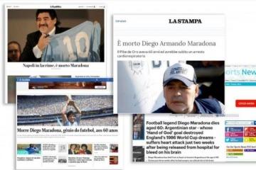 """""""La muerte de un Dios"""": la conmoción por la fallecimiento de Maradona en los medios de todo el mundo"""