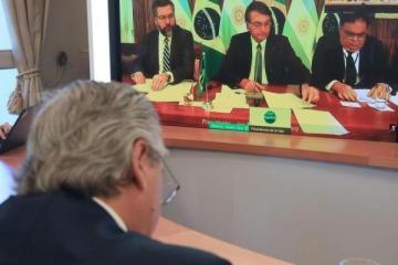 Cumbre Alberto - Bolsonaro: de qué hablaron en su primer encuentro cara a cara