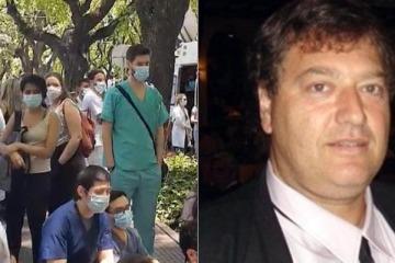 """Murió el jefe de Obstetricia del Hospital Ramos Mejía mientras protestaba contra la Ciudad por """"salarios dignos"""""""