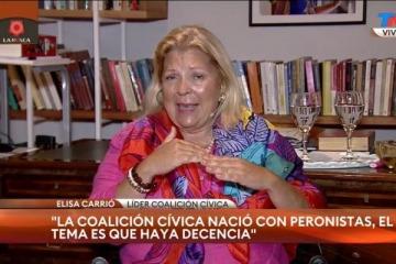 """Carrió dice que el FDT le """"pone candidatos en JXC"""" a través de Ritondo, con lo que tirotea a Vidal"""
