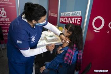 Inminente logro de Argentina: la mitad de su población total vacunada con dos dosis