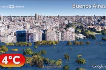 Impactante: cómo quedarían Buenos Aires y otras ciudades del mundo si no se detiene el cambio climático